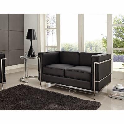 Le Corbusier Lc2 Sofa Light Brown Leather Replica Cassina Le